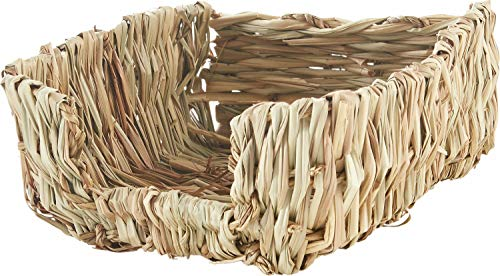 Peter's Natural Woven Grass Pet Bed for Small Animals, 10 Pack