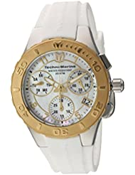 Technomarine Womens Cruise Quartz Stainless Steel and Silicone Casual Watch, Color:White (Model: TM-115089)