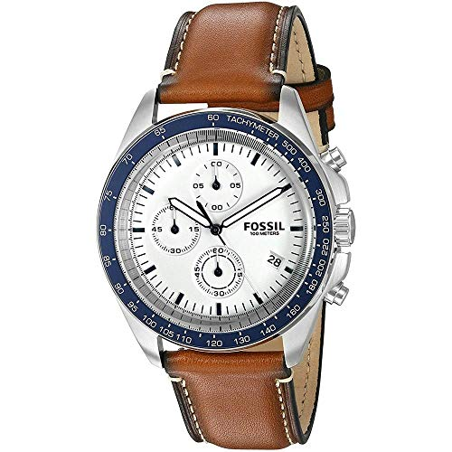 Fossil Men's CH3029 Sport 54 Chronograph Brown Leather Watch -  Fossil Watches
