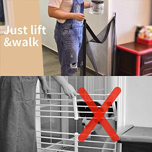 Magic Gate for Dogs Pet Safety Enclosure Portable Folding Guard Safety Enclosure,Baby Safety Fence,Magic Gate As Seen On TV(W:39.4in H:29.5in) … by ROSE RAIN (Image #3)