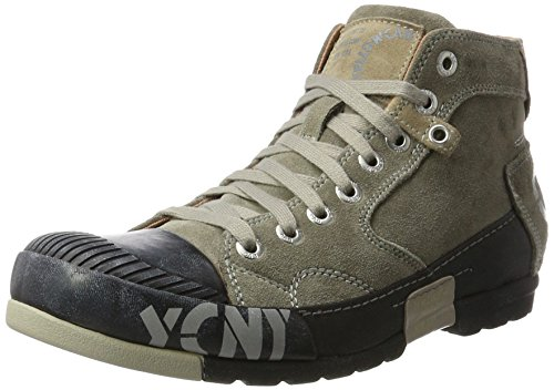Yellow Cab Mud M, Baskets Hautes Homme Gris Fonc