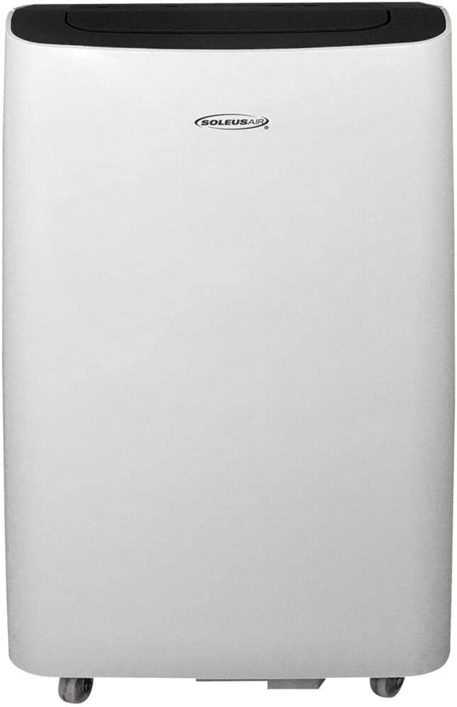 SoleusAir 8,000 BTU Portable Air Conditioner with MyTemp Remote Control, Room up to 250 sq. ft, White