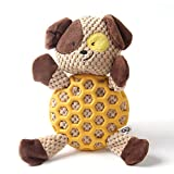 EETOYS Squeaky Plush Toy Durable Low No Stuffing Animal Toy for Dog