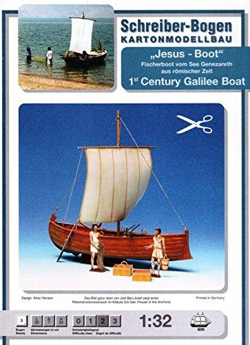 Schreiber-Bogen 1st Century Galilee Boat Card Model