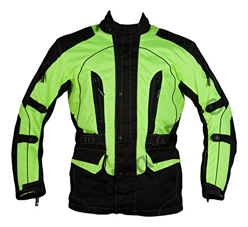 Texpeed Men's High Visibility Waterproof CE Armoured Motorcycle Textile...