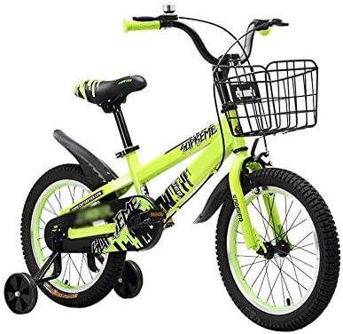 DT Pedal de Bicicleta para niños 14/16 Pulgadas 3-8 años de Edad, Carro de bebé, niña, niños, Bicicleta (Color : Amarillo, Tamaño : 16 Inches)