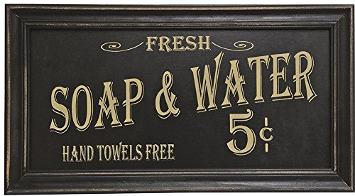 Vintage Bath Wall Art, Soap & Water