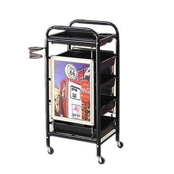 Amazon.com: Carro de belleza con ruedas para salón de ...