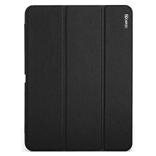 Samsung Galaxy Tab 4 10.1 Case - Poetic Samsung Galaxy Tab 4 10.1 Case [Slimline Series] - [Lightweight] [Ultra-slim] PU Leather Slim-Fit Trifold Cover Stand Folio Case for Samsung Galaxy Tab 4 10.1 Black (3 Year Manufacturer Warranty From Poetic)