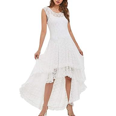mejores zapatillas de deporte e9e58 a5598 Vectry Vestidos de Playa Mujer Blancos Vestidos Casual de Mujer Primavera  Vestidos Estampados Largos Vestidos de Fiesta Cortos Sexy Vestidos Playa ...