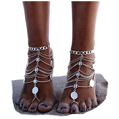 axiba-1-pair-boho-vintage-silver-coin-blessing-symbol-tassel-anklets-foot-jewelry-silver
