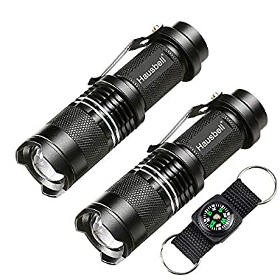 Flashlights, Hausbell 7W Mini LED Flashlight, 3 Light Modes