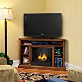 corner fireplace tv stand heater - Real Flame 3750-O Churchill Ventless Gel Fireplace