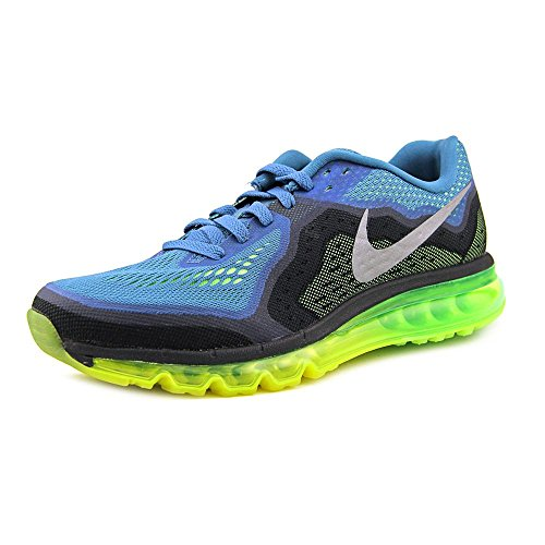 Nike Air Max 2014 Running Shoe (Rift Blue, Flash Lime) Sz. 10