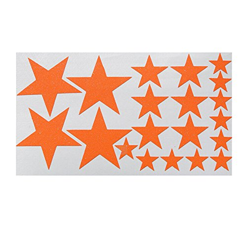 Panda Superstore [Set of 8] Shinning Stars Waterproof Bicycle Frame/Rack/Bike Rim Stickers,ORANGE by Panda Superstore
