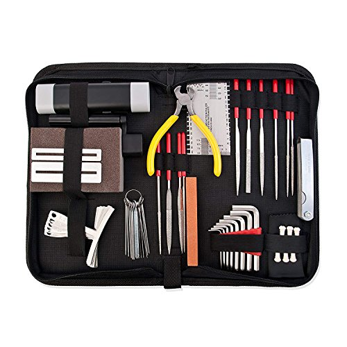 S-Sport-Life - Guitar Repair and Maintenance Accessories Kit - Complete Care Set of Tools For Guitar Ukulele & Bass. Guitar Kit With Convenie