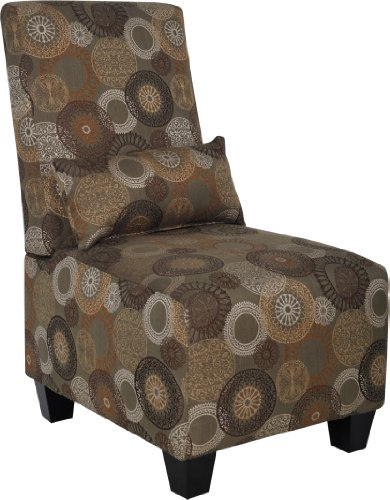 Serta CR-43549 Trinidad-Copenhagen Collection Slipper Accent Chair, Sage Print