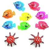 HOT Item! 10pcs Aquarium Fish Tank Artificial Plastic Fake Floating Fish Pet Decoration Decor Ornaments (10 Piece/Lot, Random)
