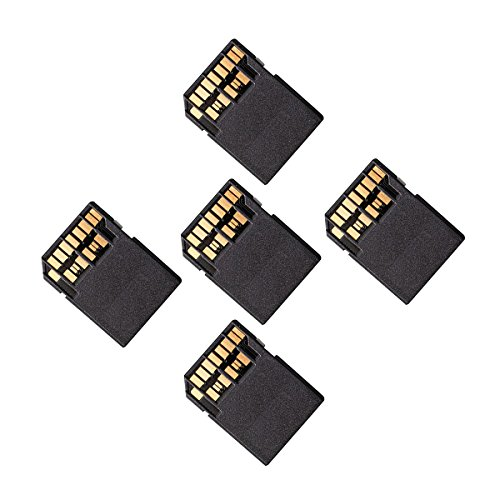 Cablecc 5pcs UHS-II 4.0 Micro-SD SDHC SDXC TF Card to SD SDHC SDXC Card Adapter Kit