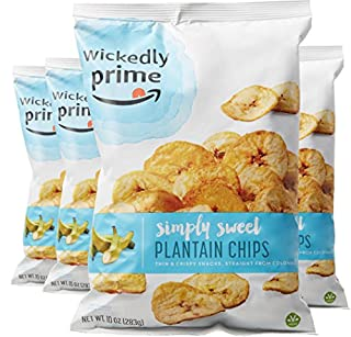 Wickedly Prime Plantain Chips, Simple & Slightly Sweet, 10 Ounce (Pack of 4) (B01N4P3KFK) | Amazon Products