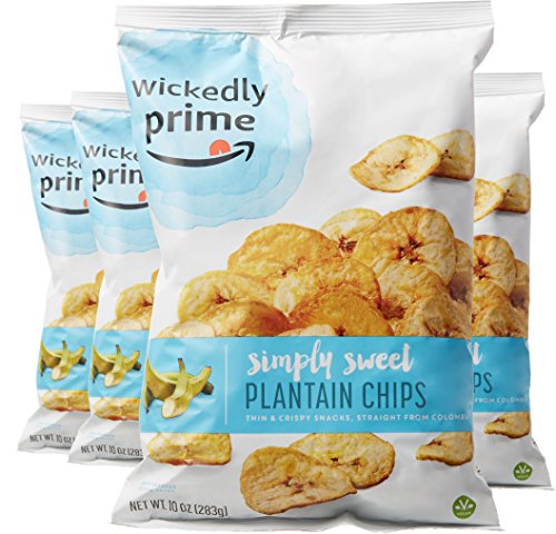 (Wickedly Prime Plantain Chips, Simple & Slightly Sweet, 10 Ounce (Pack of 4))