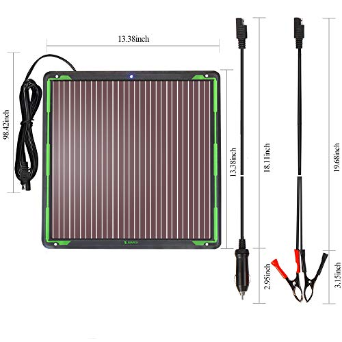 Snowmobile Motorcycle SUNAPEX 7.5W 12V Solar trickle Charger,Battery Charger,Battery maintainer Portable Power Solar Panel Suitable for Car ATV,Marine Boat RV etc. Trailer