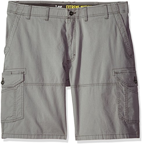 LEE Men's Big-Tall Extreme Motion Swope Cargo Short, Silver, 46