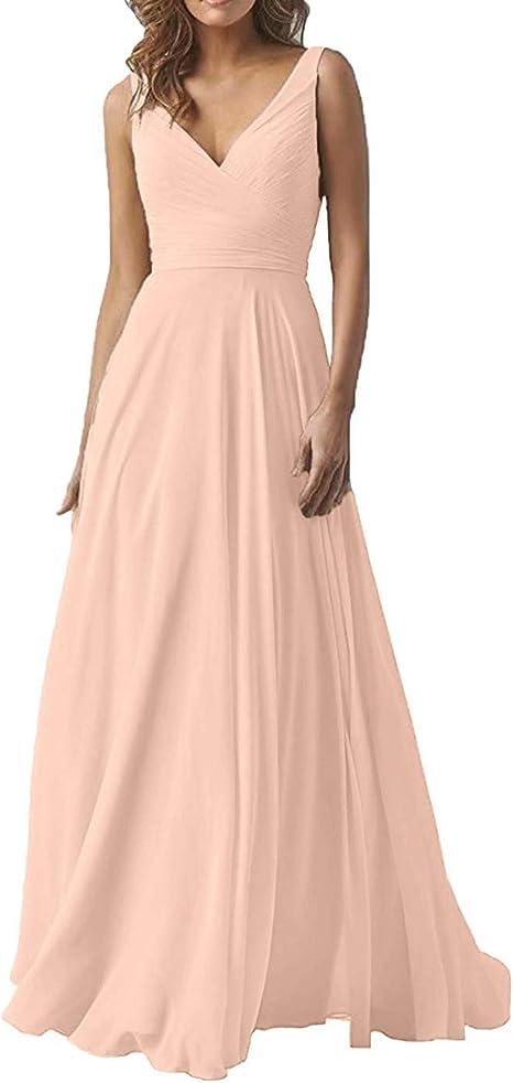 Emma Night Elegantes Vestidos de Dama de Honor con Escote en ...