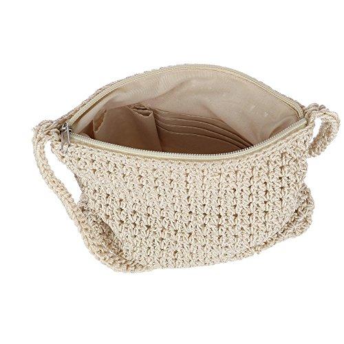 Crossbody CTM Ivory Crochet Women's Handbag HwqqTES