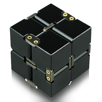infinity cube  : HELESIN Infinity Cube Fidget Toy - Aluminum Infinite ...