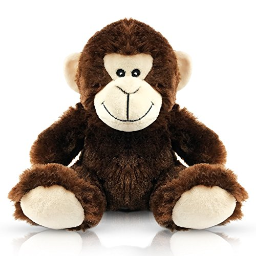 EpicKids Stuffed Monkey - Plush Animal That's Suitable for Babies and Children - 7 Inches