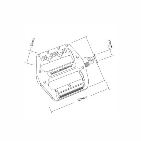 YaXuan Pedales para Bicicletas Plataforma Ciclismo Pedales Planos con cojinetes sellados 9/16 Materiales plásticos Pedal Plano Antideslizante y Planos Moda ...