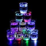 Homecube 24 Flash Light Up Cups Flashing Shots Light 24 LED Bar Night Club Party Drink