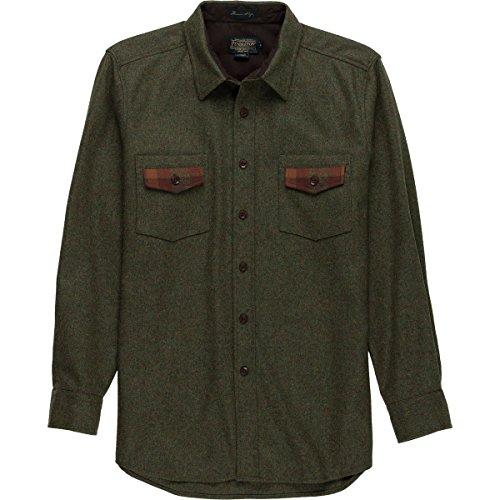 Pendleton  Men's Contrast Shirt Peat Moss Green Mix/Plaid Large (Peat Moss Apparel)