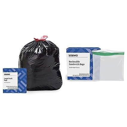 Amazon.com: Amazon Brand – Bolsas de basura con cordón ...