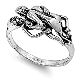 Missionary Sex Kama Sutra Ring Love Baby Making Stainless Steel Band Size 5