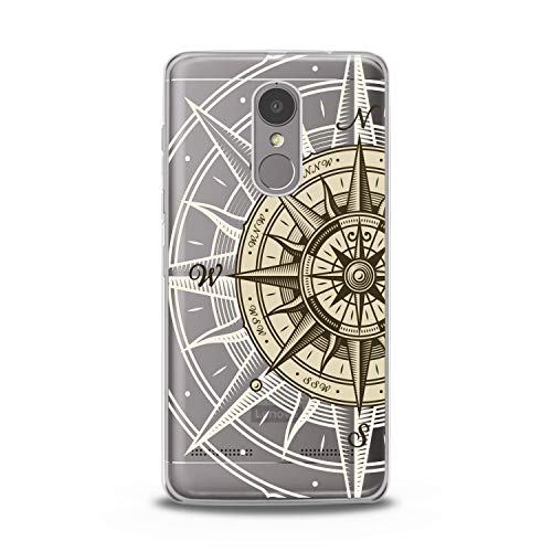(Lex Altern TPU Case for Lenovo Phone K8 Note K6 Note 2017 K5 Plus Z5 Сompass Art Smooth Map Cover East Design Print West Lightweight Gift South Soft Flexible White)