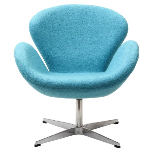 Modway Wing Lounge Chair in Baby Blue (Fiberglass Wings)