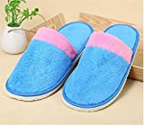 Women/Men Spa Slippers Flip Flops Open Toe Washable For Hotel,Home,Travel,Spa Use 10 Pairs , days, blue