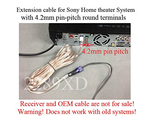 20ft speaker extension cable/wire/cord for select Sony Home Theater system with 4.2mm pin-pitch round terminals