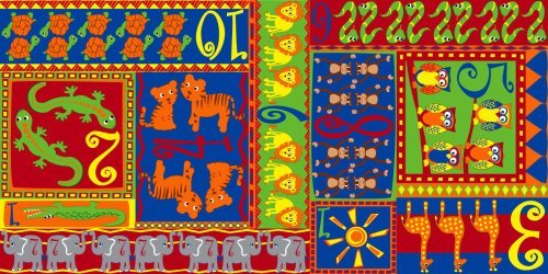 Kid Carpet FE758-42Y Counting Animal Nylon Area Rugs 12' x 6' Multicolored [並行輸入品]   B07HLNRT69
