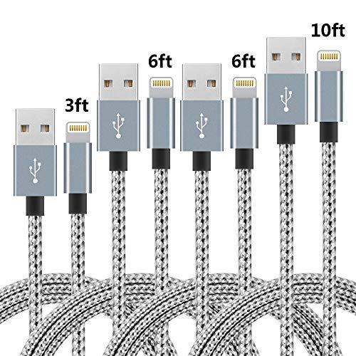 SPEATE Phone Cable 4pcs 3FT 6FT 6FT 10FT Nylon ...