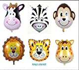 king's store 6 PCS huge animal head balloon, can float huge animal balloons, the children like it very much, six floating in the air, animal head is very lovely