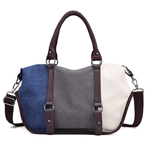 Coafit Bolsa de Mano Bolso Cruzado para Mujer Lienzo de Colores Bolso de Hombro para Viajes de Compras Multicolor Type 5