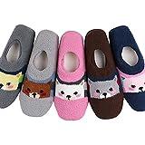 Women's Soft Warm Fuzzy Short Socks no.2 Puppy 5 Pair