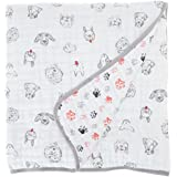 aden + anais Dream Blanket, 100% Cotton Muslin, 4 Layer lightweight and breathable, Large 47 X 47 inch, Limited Edition Year Of The Dog Dream Blanket