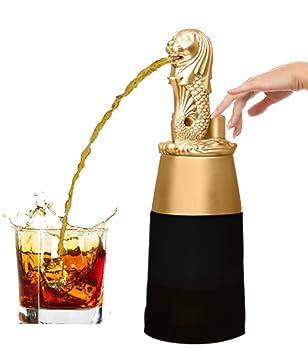 barraid Singapur León dorado forma redonda con negro tarro dispensador de licor 500 ml de capacidad: Amazon.es: Hogar