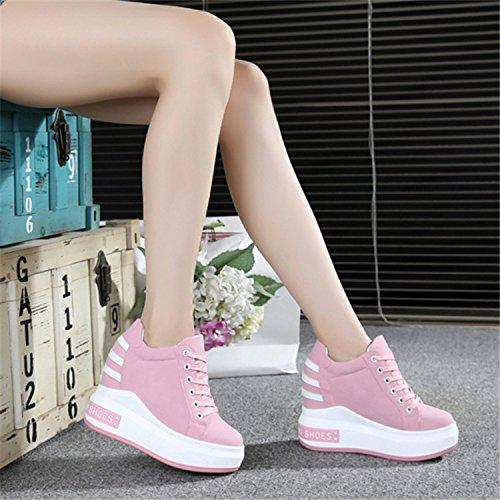 Bottom Cuero Casual De Zapatos Gtvernh Inclinados Rough En Mujer Magdalena Solo Pink Boca Primavera Deportes Están Rosa Superficial Aumentado Mujer en Los nZUF5aUx
