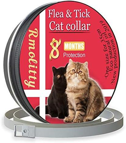 Rmolitty Collar Antiparasitario para Gatos, contra Pulgas, Garrapatas y Mosquitos 8 Meses de Protección, 35cm para Pequeña Medio Grande Gatos (35cm): Amazon.es: Productos para mascotas