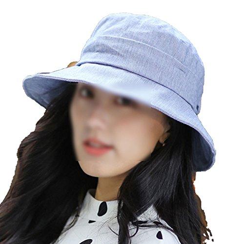 Hat Ladies Solid Sun Hat Collapsible Elegant Basin Hat Fisherman Hat Female Travel Sun Hat,1